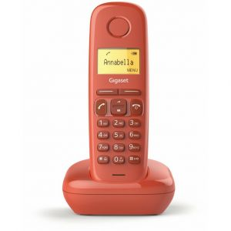 Teléfono Gigaset telefonia basica/dect DECT GIGASET A170 ROJO