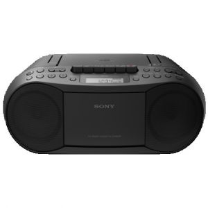 Reproductor portátil Sony RADIO CD/CASSETTE BOOMBOX CFDS70B.CED NEGRO