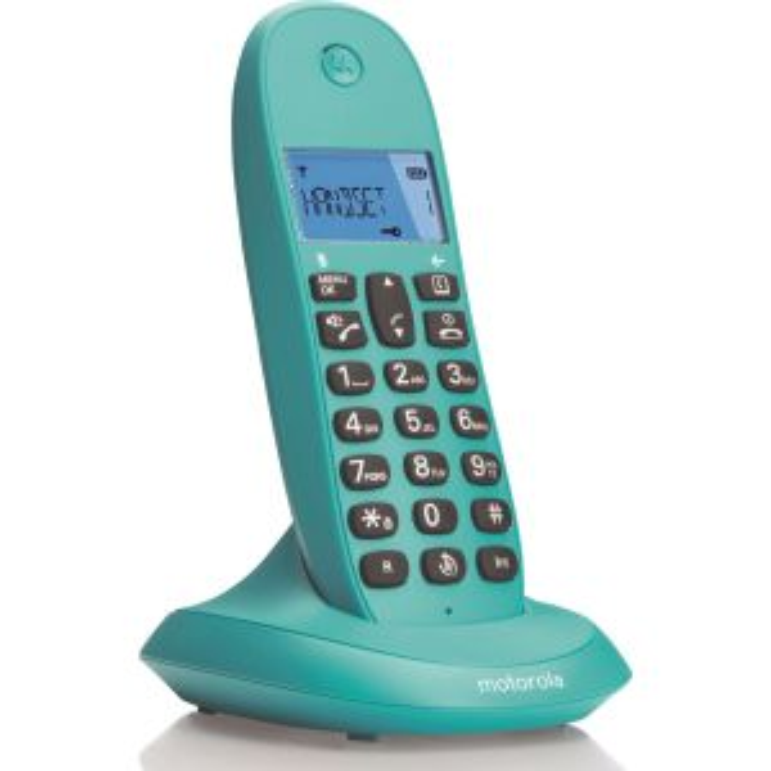 Teléfono Motorola DECT C1001LB TURQUESA