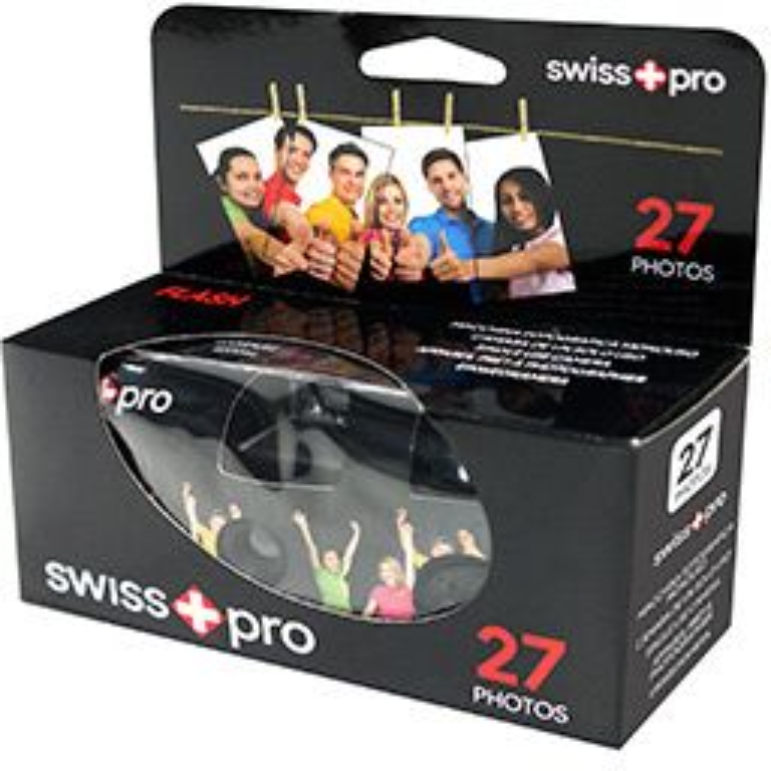 Cámara de fotos Swiss+pro Camara de Un Solo Uso - 400-27 con Flash