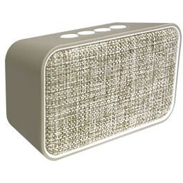 Altavoz Swiss+go Bluetooth Portatil - CLIO BT-003 Beig 2x3w, FM, MicroSD, USB, Funcion manos libres, 135x80x50 mm