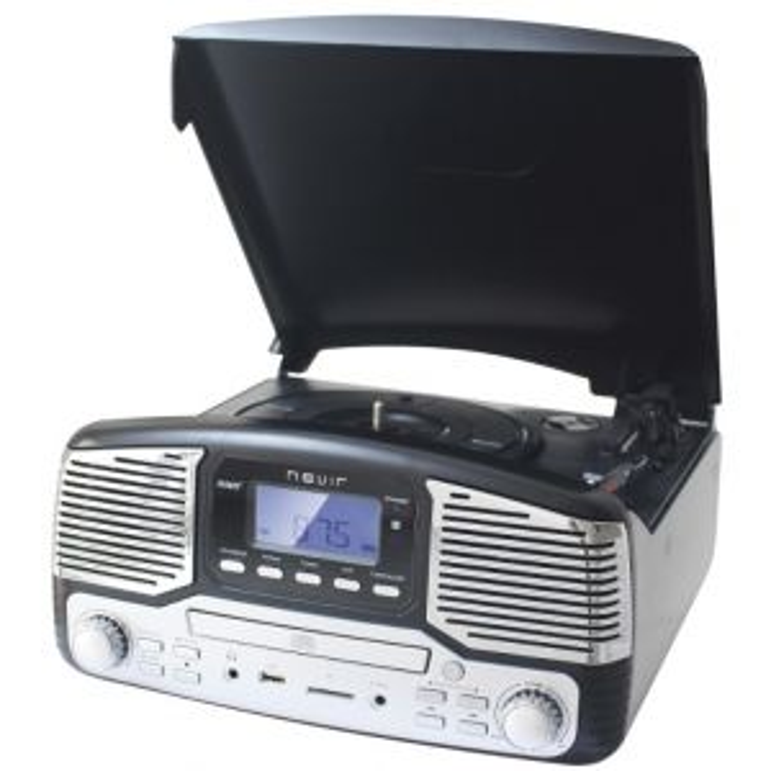 Tocadiscos Nevir GIRADISCOS NVR-812 NEGRO CD/MP3/USB/SD