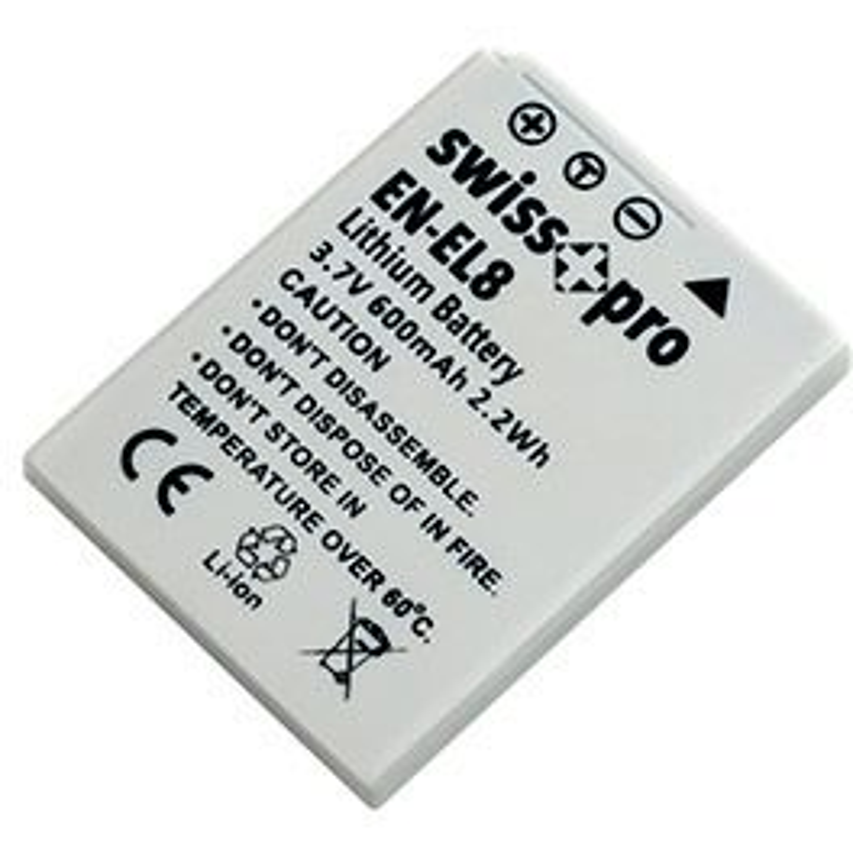 Swiss+pro Bateria - EN-EL 8 600mAh Para Nikon