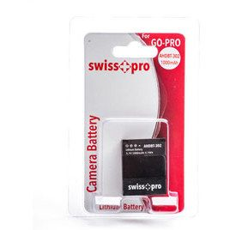 Swiss+pro Bateria - AHDBT-302 1000mAh Para Go-Pro