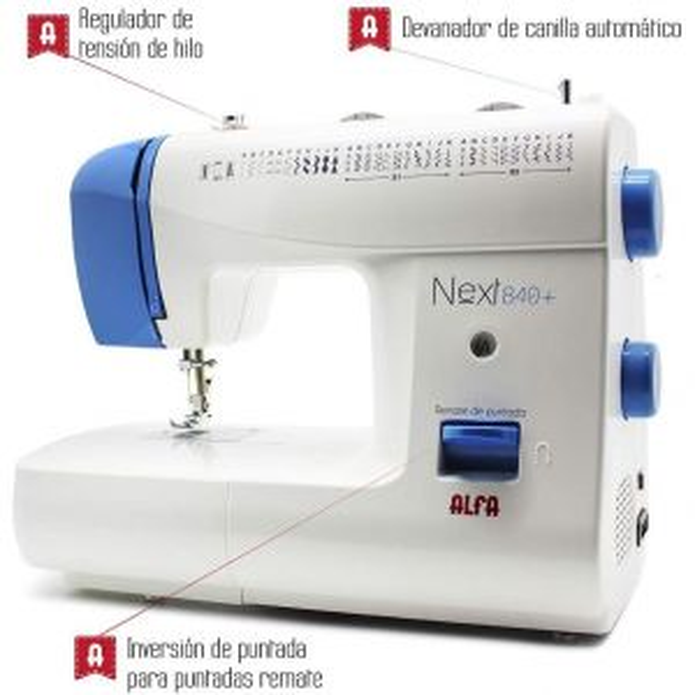 Máquina de coser Alfa MAQUINA DE NEXT 840+ ZIGZAG BRAZO