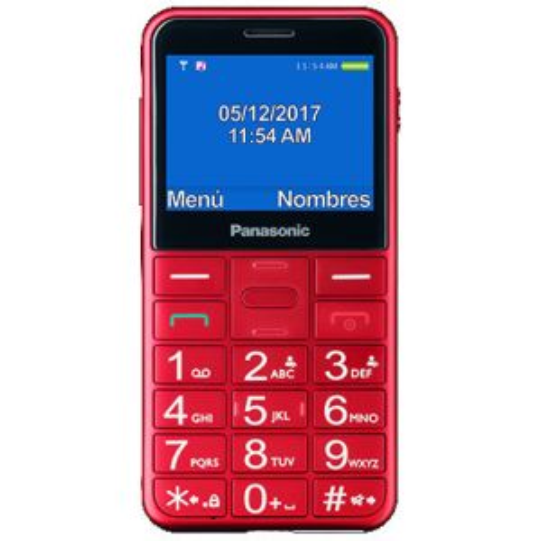 Teléfono Panasonic KX-TU150 ROJO