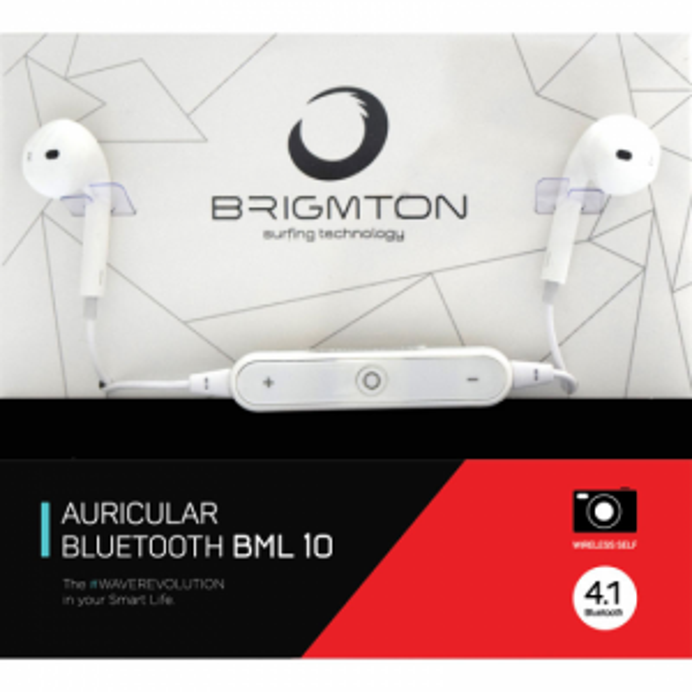 Auriculares Brigmton BML-10-B BLUETOOTH BLANCO