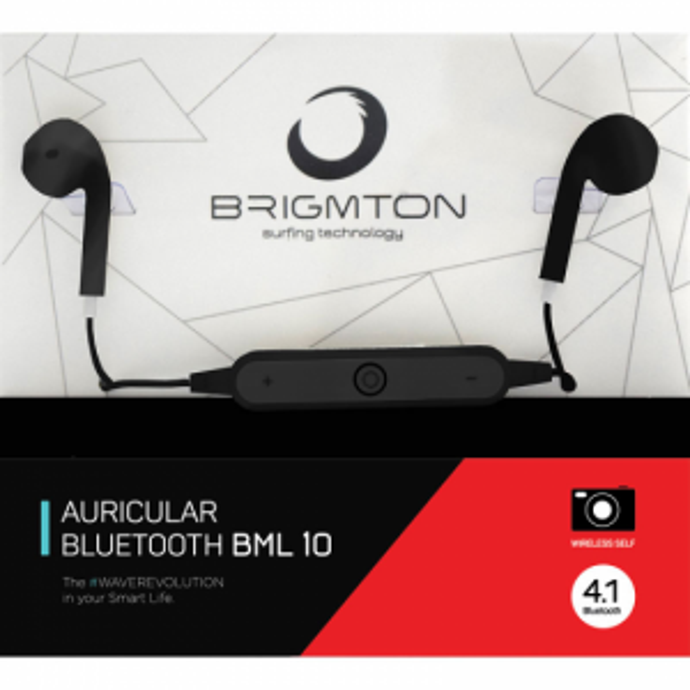 Auriculares Brigmton BML-10-N BLUETOOTH NEGRO