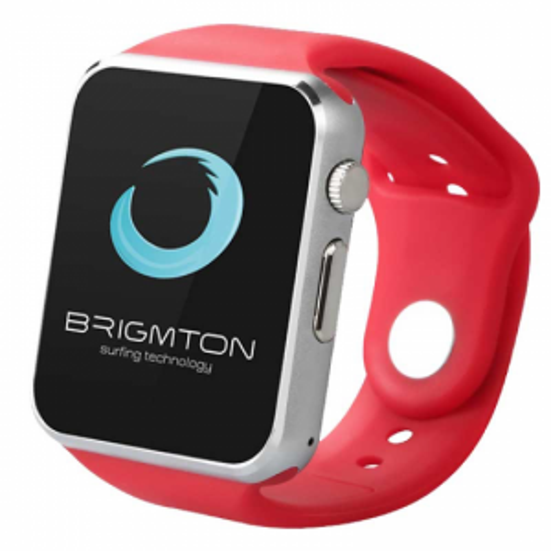 Brigmton RELOJ SMART BWATCH-BT4R ROJO TELEFONO