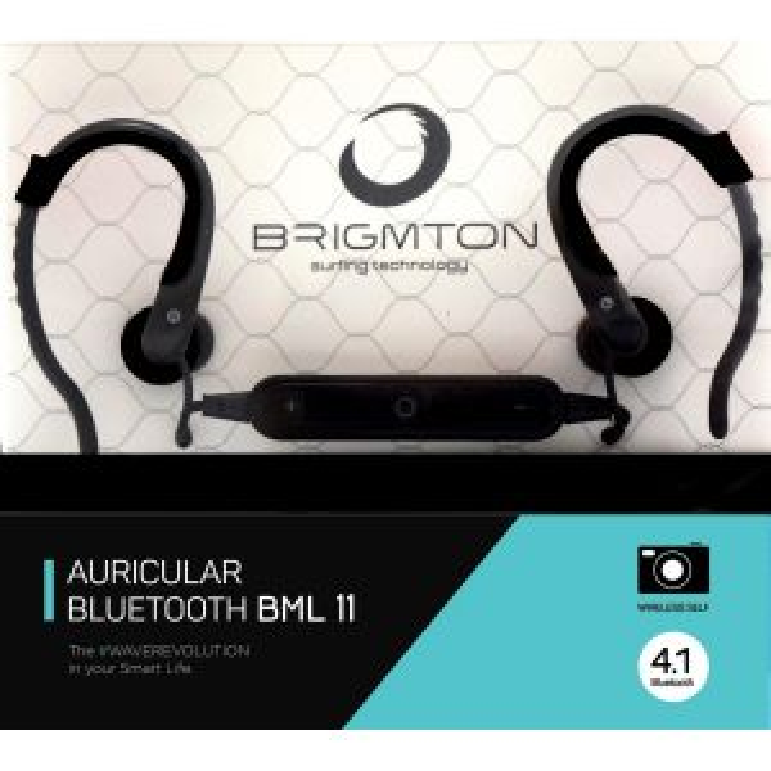 Brigmton BML 11 Dentro de oído Monoaural Bluetooth Negro para móvil