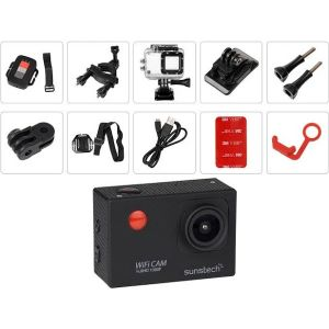 Cámara deportiva Sunstech Video camara de accion ACTIONCAM10BK
