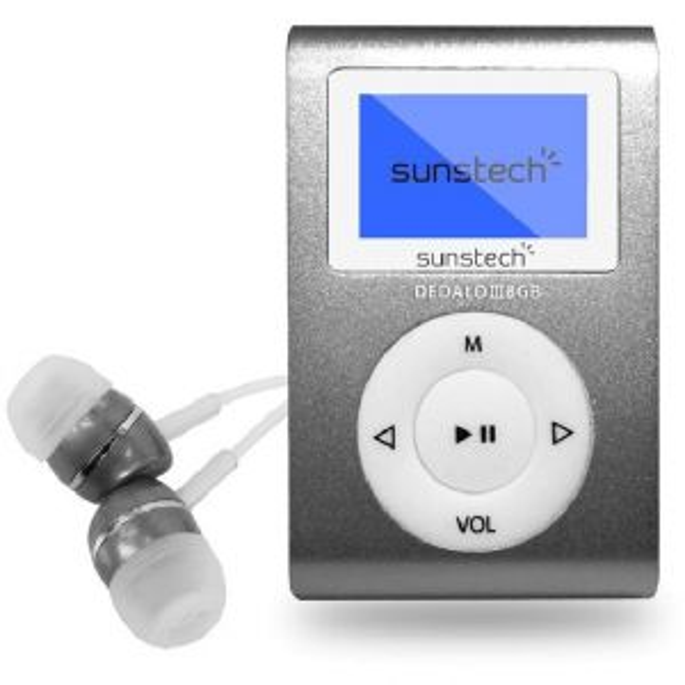 Reproductor portátil Sunstech REPROD. MP3 DEDALOIII8GBGY 8GB 1,1