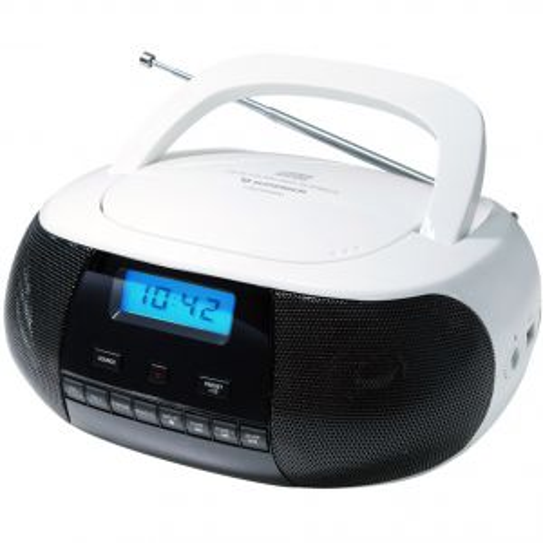Reproductor portátil Sunstech Radio CD CRUSM400WT