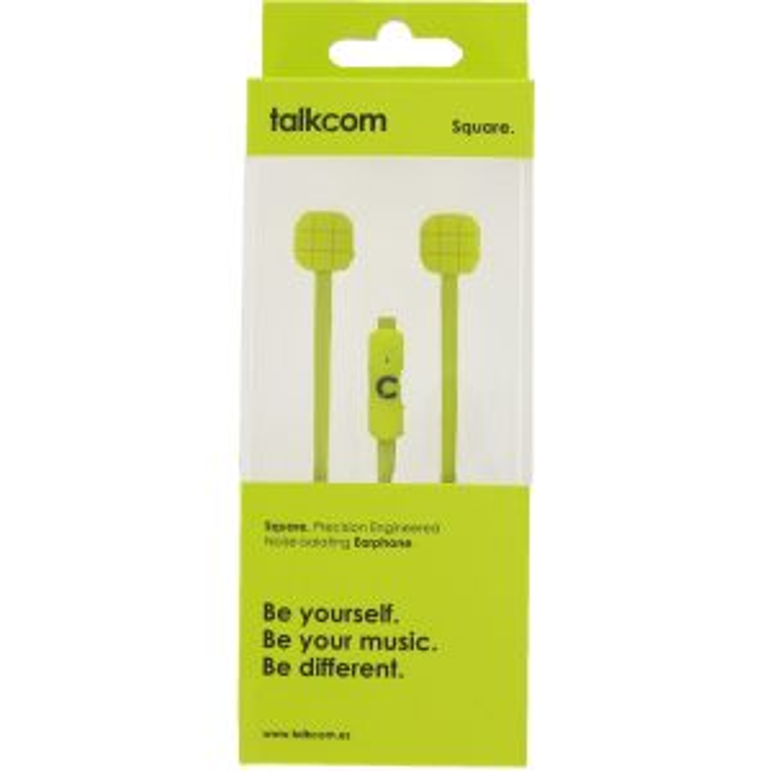 Auriculares Talkcom BOTON+MIC SQUARE LIMA
