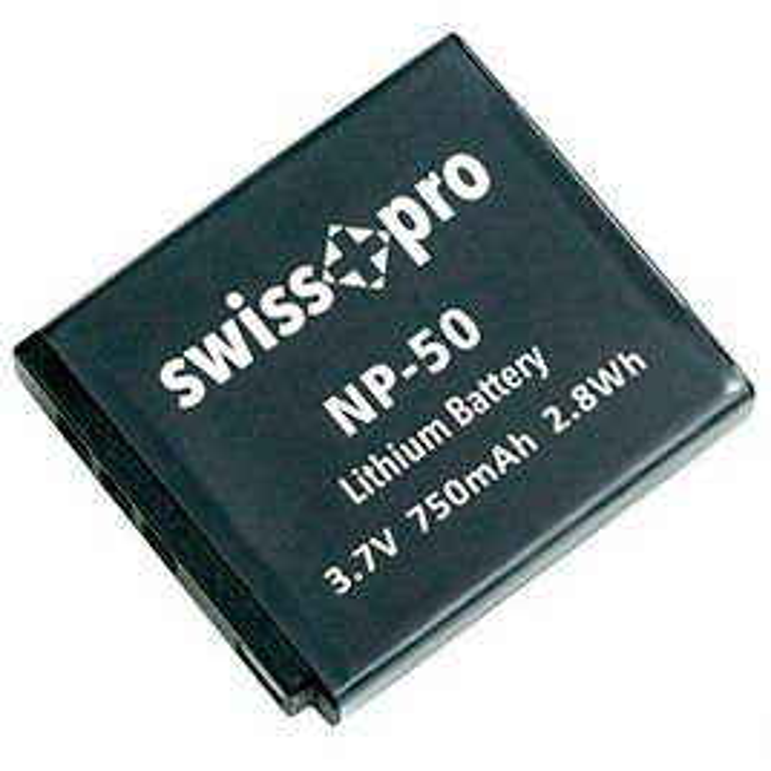 Swiss+pro Bateria - NP-50 750mAh Para Fuji